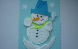 Снеговик из ватных дисков пошагово с фото и видео. Снеговик из ваты к Новому году. Идеи и мастер-классы