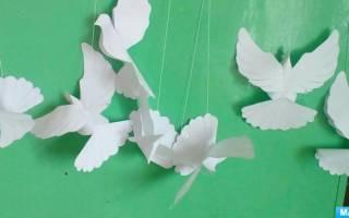 Голубь мира объемный шаблон для вырезания. Голуби своими руками из бумаги: идеи для творчества и подробные мастер классы с фото и описанием работы. Мастерим голубя из бумаги в технике оригами быстро и легко