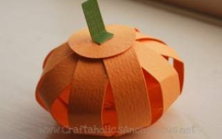 Идеи оформления тыквы на хэллоуин своими руками. Бумажная тыква с сюрпризом. Сборные композиции с тыкв