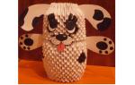 Оригами собака схема сборки пошаговая инструкция. Модульное оригами с собакой: схема, пошаговая инструкция