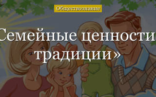 В чем заключаются семейные ценности каждого человека. Семейные ценности и традиции