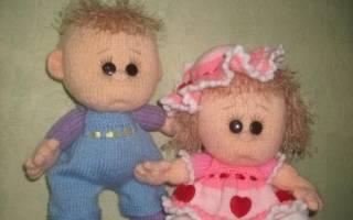 Мк по вязанию пупса спицами. Вязаные куклы(спицы). Кукла – снежинка вязанная спицами