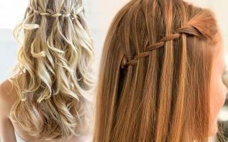 Прическа французский водопад короткие волосы. Элегантная прическа водопад (50 фото) — Пошаговая инструкция. Коса водопад для принцесс