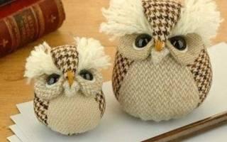 Сделать выкройку совы. Сова своими руками из ткани: три идеи в интересных уроках