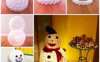 Из чего сделать снеговика на елку. Поделка снеговик из подручных материалов на новый год своими руками, мастер-классы с пошаговыми инструкциями. Необходимые материалы, чтобы сделать оригинального снеговика из одноразового стаканчика