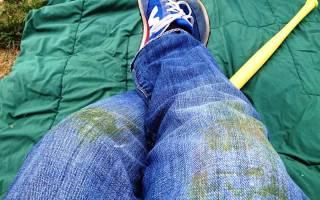 Как удалить пятна от зелени. Что делать если испачкалась курточка, костюм. Как быть с джинсами