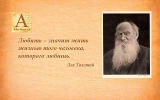 Лев толстой о любви. Л. Н. Толстой о жизни и любви