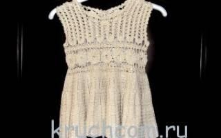 Связать красивое платье на годик крючком. Платья, сарафаны крючком